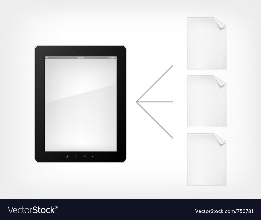 Document concept tablet pc vector | Price: 1 Credit (USD $1)