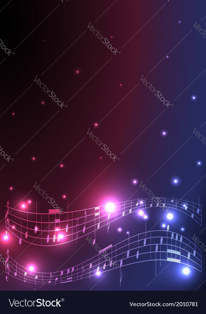 Flyer with musical notes vector   Price: 1 Credit (USD $1)