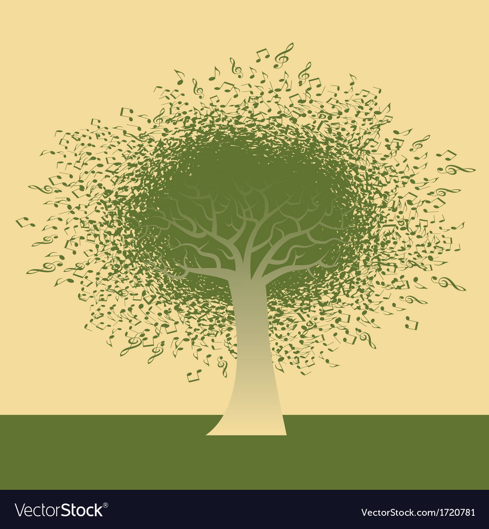 Funky note tree vector   Price: 1 Credit (USD $1)