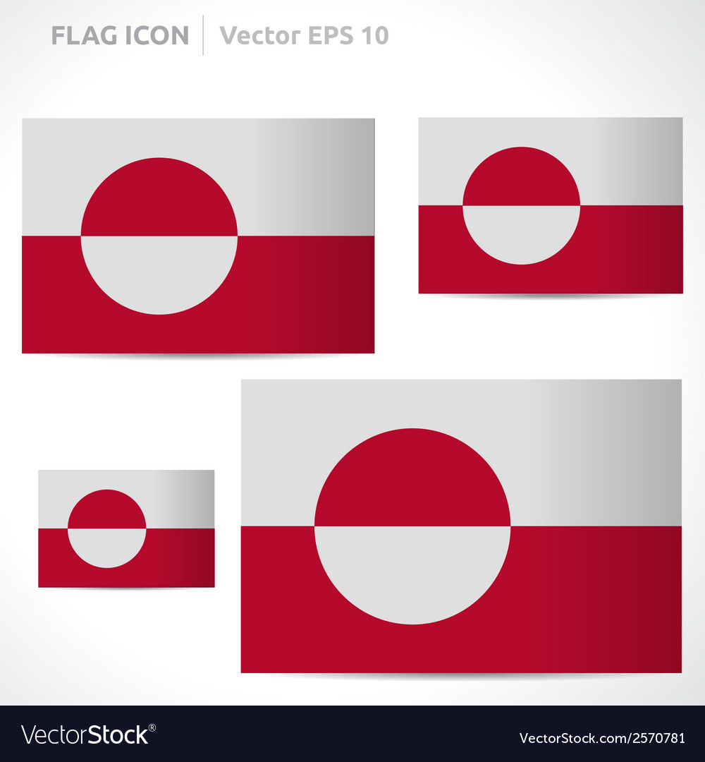 Greenland flag template vector | Price: 1 Credit (USD $1)