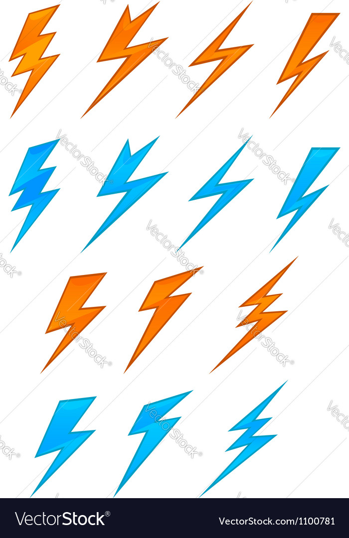 Lightning symbols vector | Price: 1 Credit (USD $1)