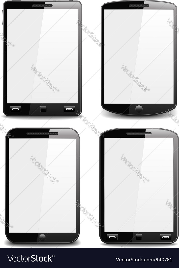 Modern black smart phones vector | Price: 1 Credit (USD $1)
