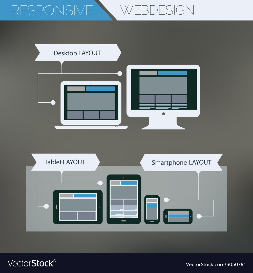 Responsive webdesign technology page design vector | Price: 1 Credit (USD $1)