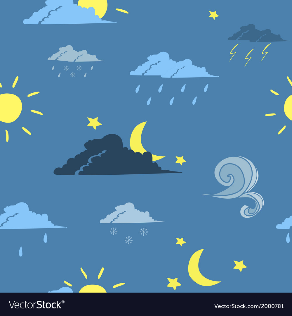 Seamless weather forecast background vector | Price: 1 Credit (USD $1)