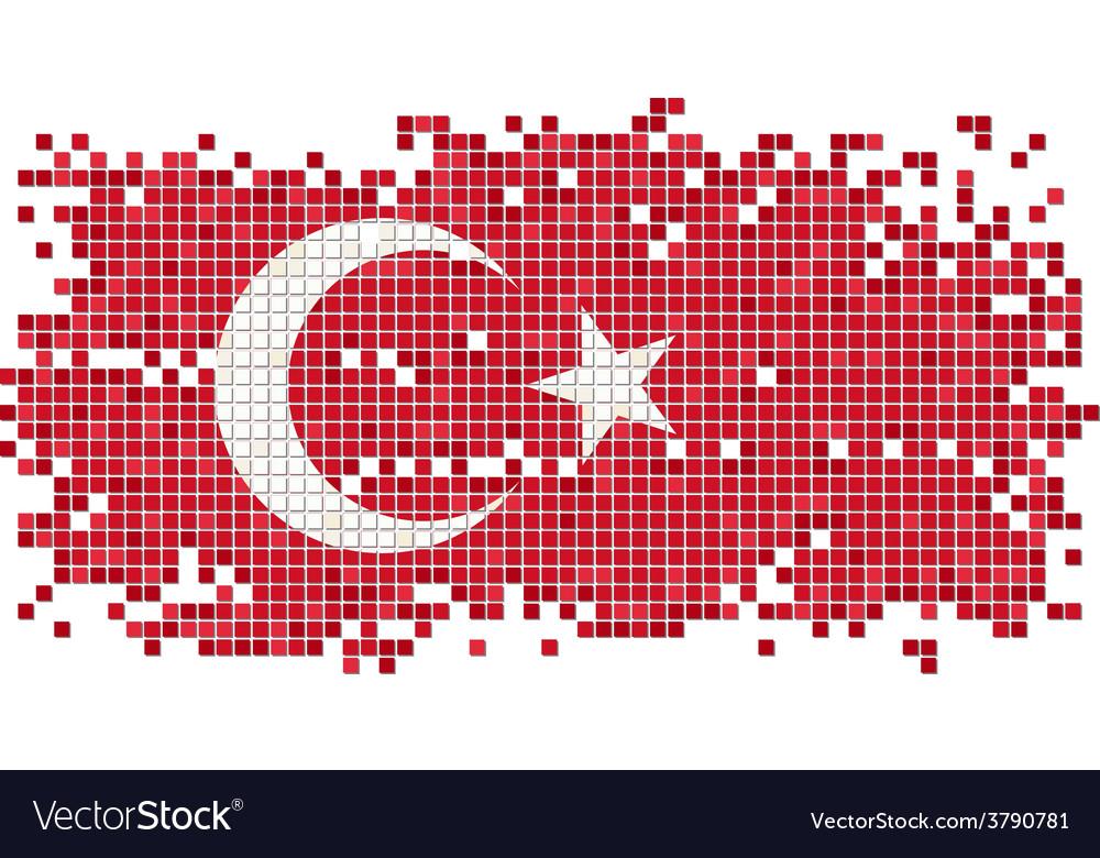 Turkish grunge tile flag vector | Price: 1 Credit (USD $1)