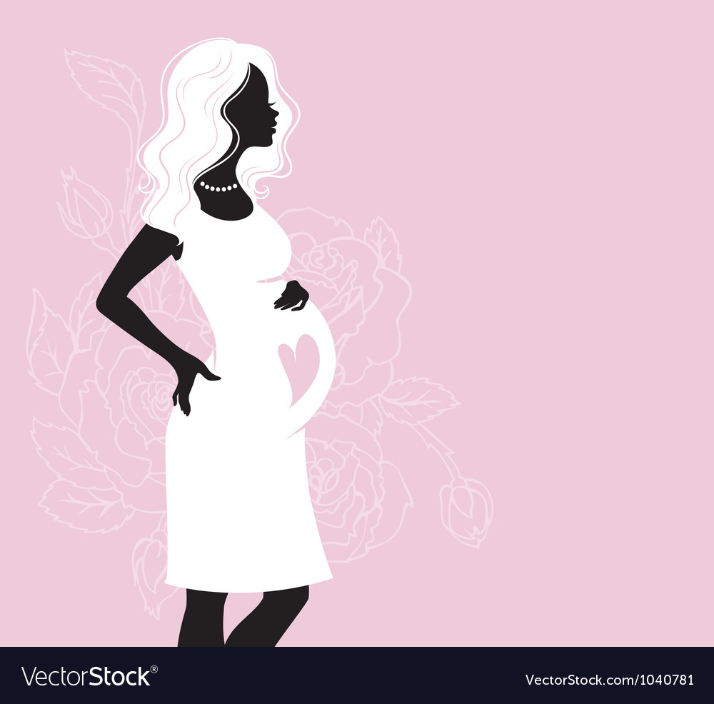 Woman pregnancy vector | Price: 1 Credit (USD $1)