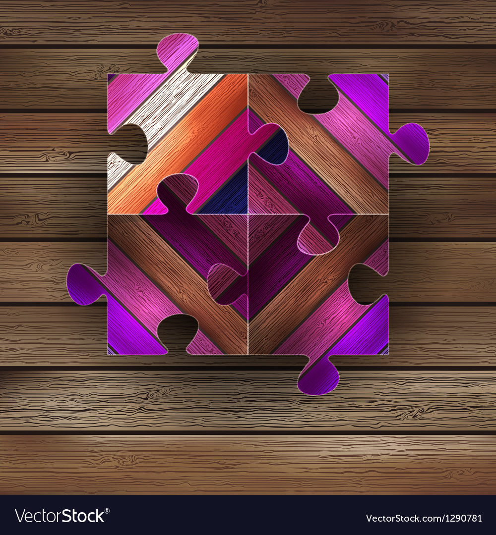 Wooden color puzzle background  eps8 vector | Price: 1 Credit (USD $1)