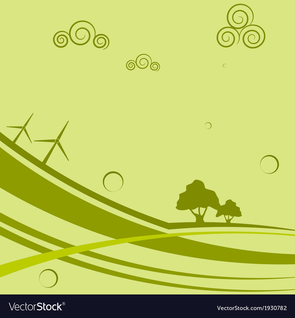 Abstract background with wind generators vector | Price: 1 Credit (USD $1)