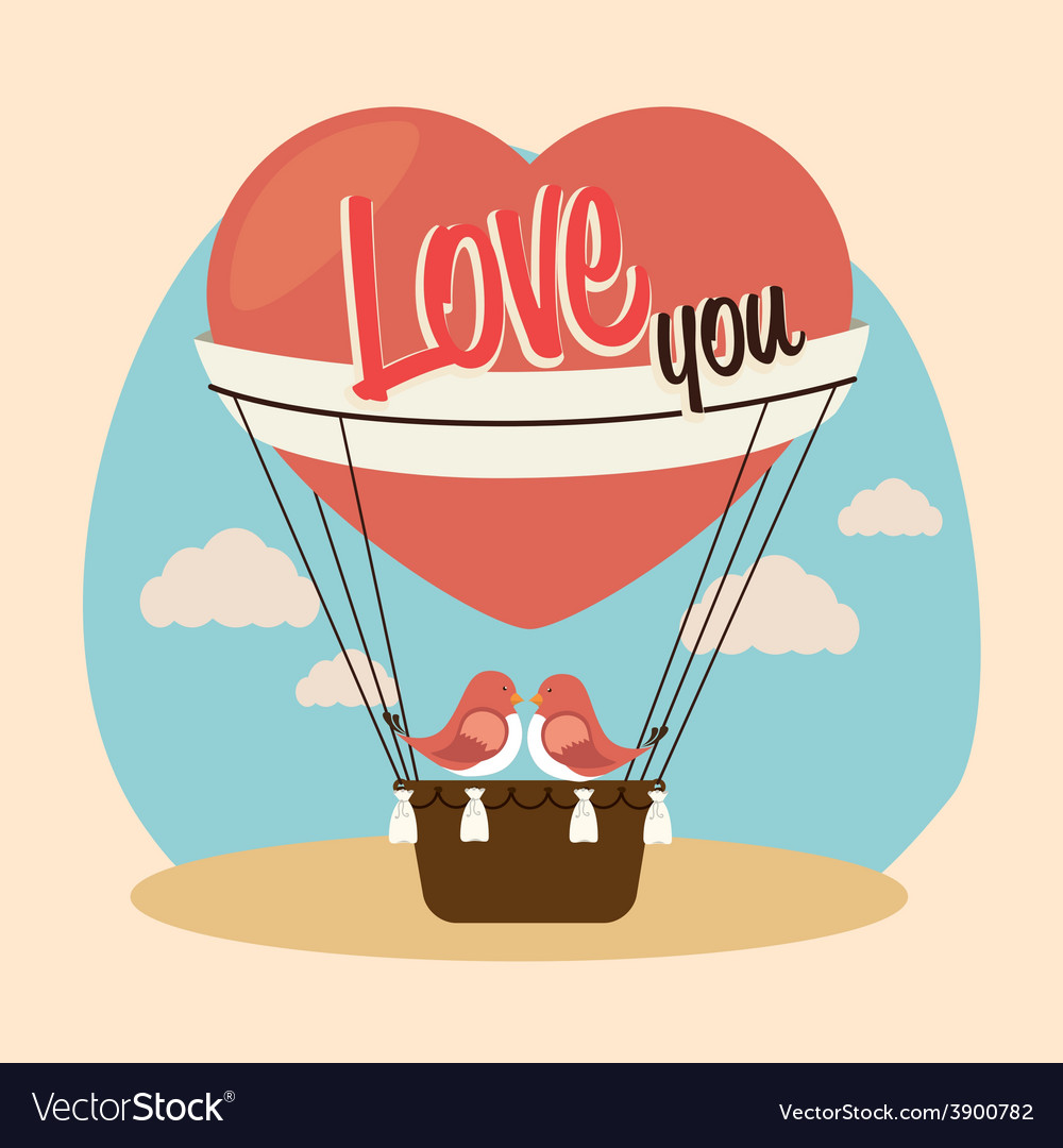 Air balloon over beige background vector | Price: 1 Credit (USD $1)