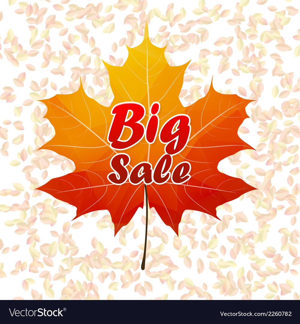 Autumn sale typography poster plus eps10 vector | Price: 1 Credit (USD $1)