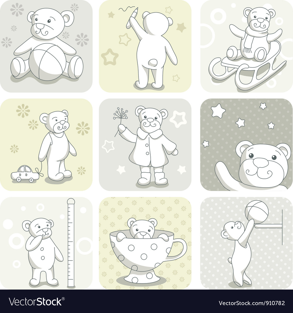 Baby card set vector | Price: 3 Credit (USD $3)
