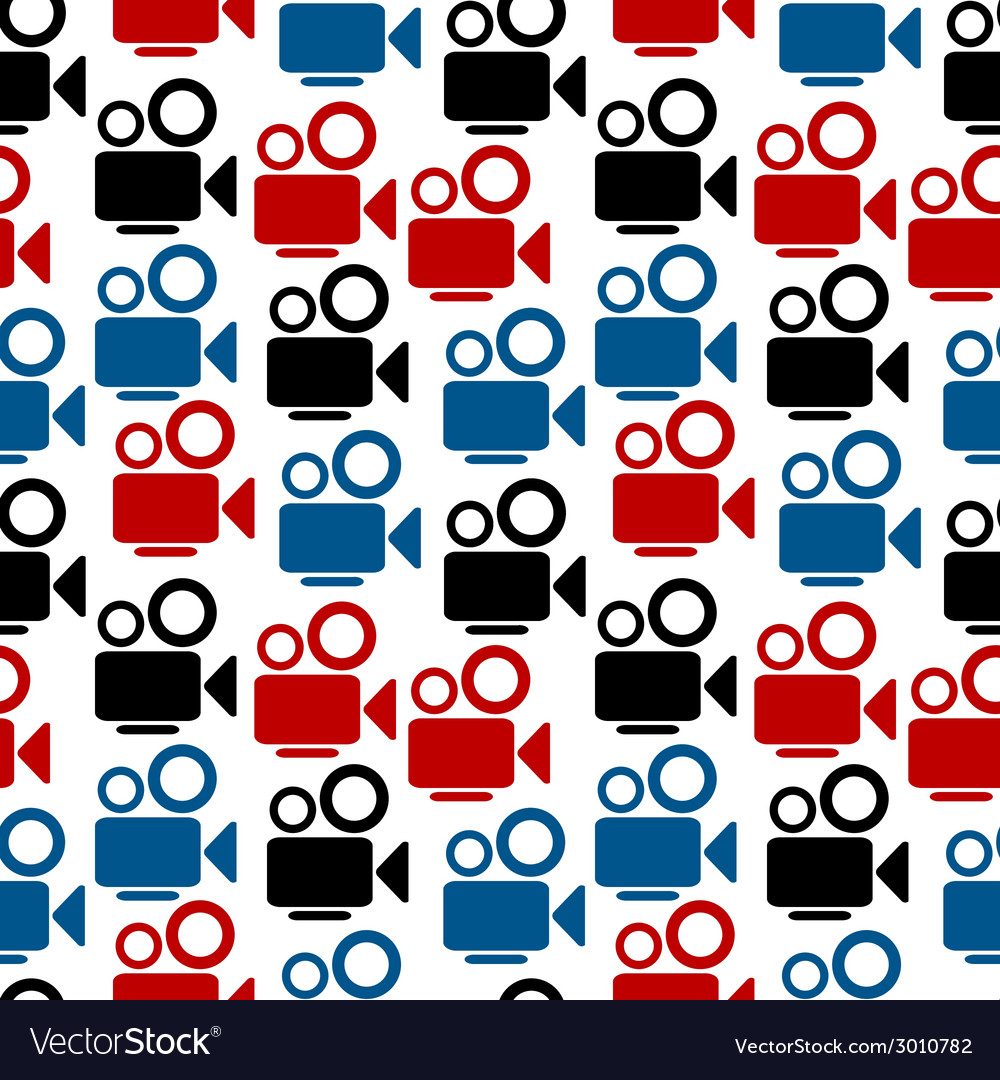 Camera seamless pattern vector | Price: 1 Credit (USD $1)