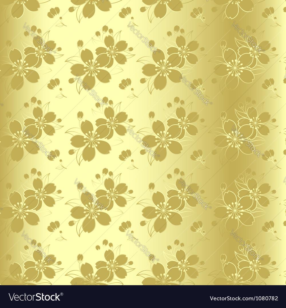 Cherry blossom seamless pattern vector