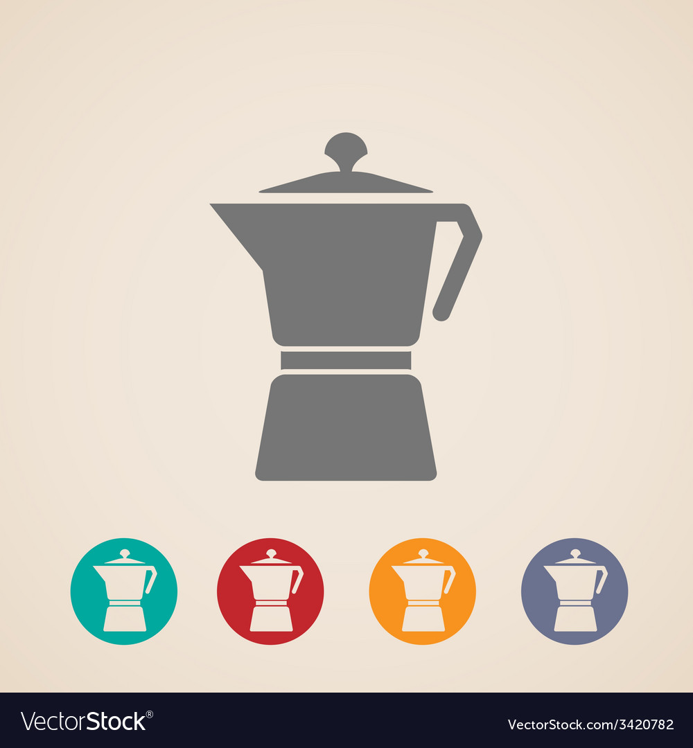 Coffee pot icons vector | Price: 1 Credit (USD $1)