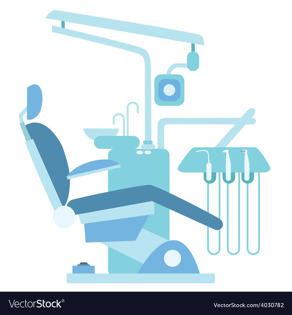 Dentist medical office chair vector