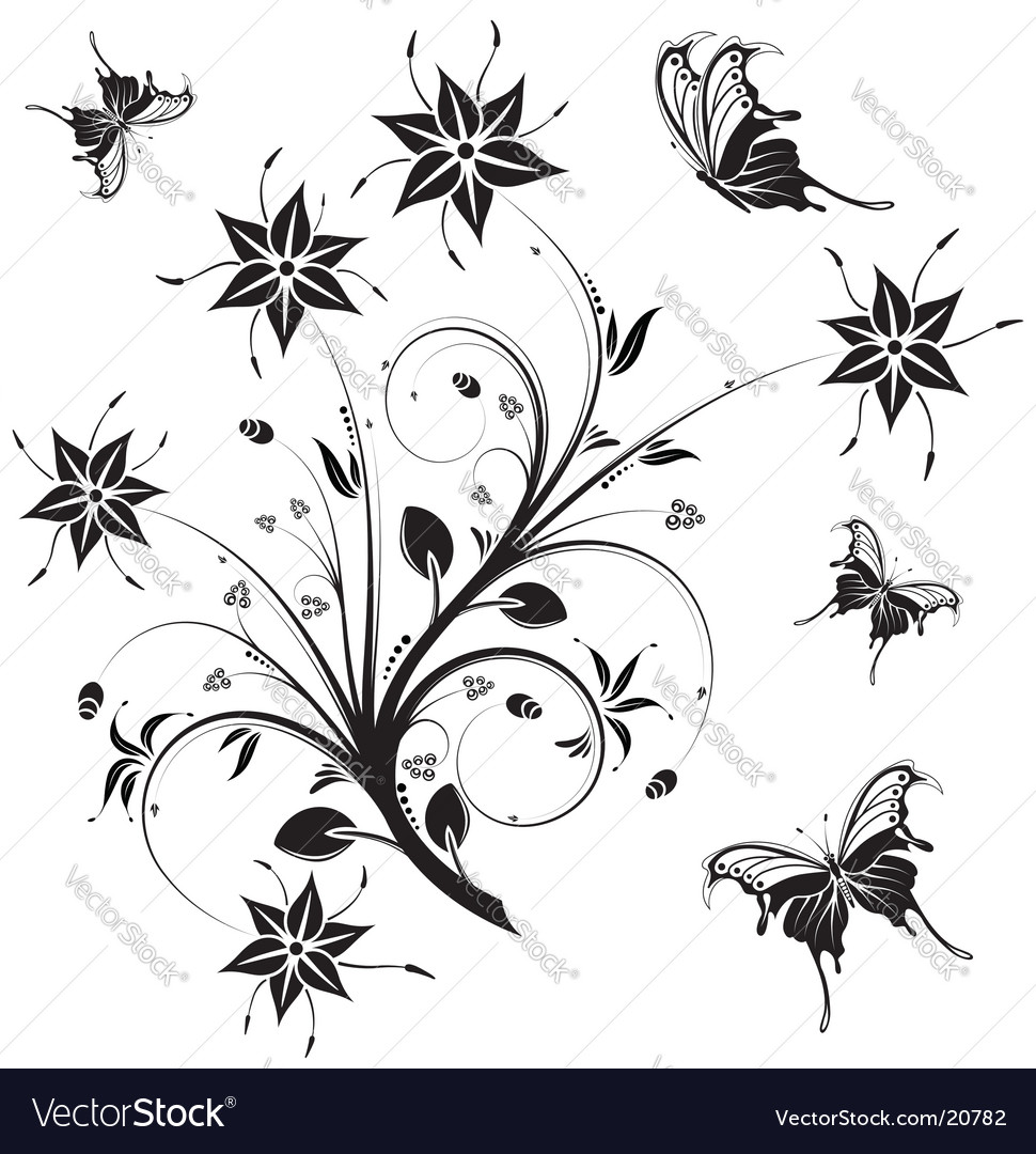 Floral nature design vector | Price: 1 Credit (USD $1)