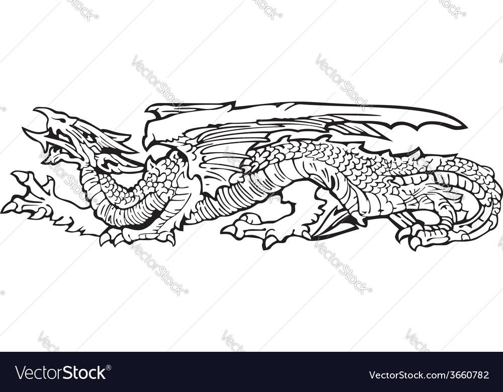 Heraldic dragon no13 vector | Price: 1 Credit (USD $1)