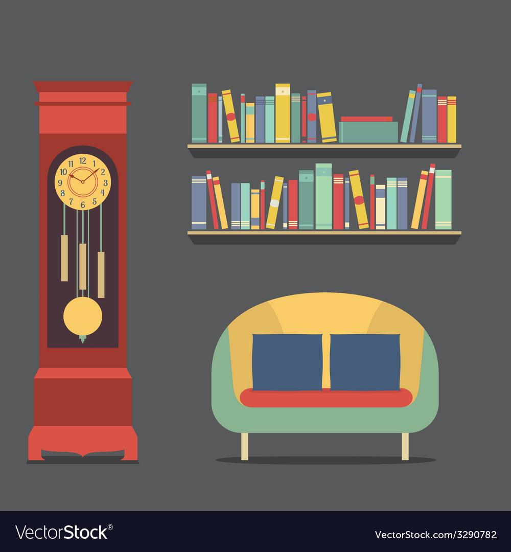 Living room interior design vector   Price: 1 Credit (USD $1)