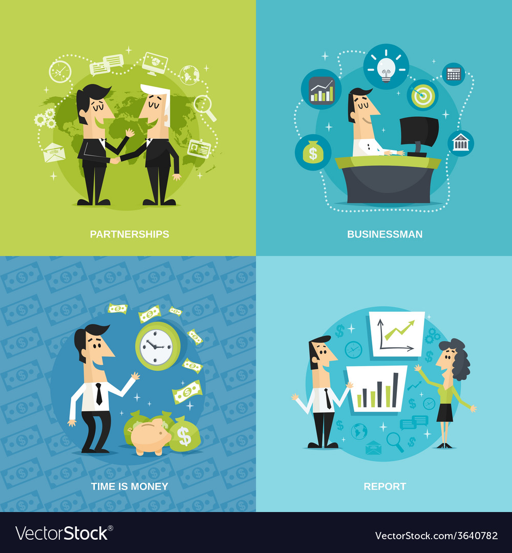 Office workers flat vector | Price: 1 Credit (USD $1)