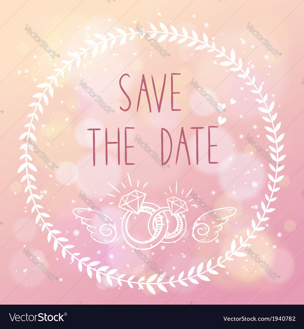 Save the date elegant wedding card vector | Price: 1 Credit (USD $1)
