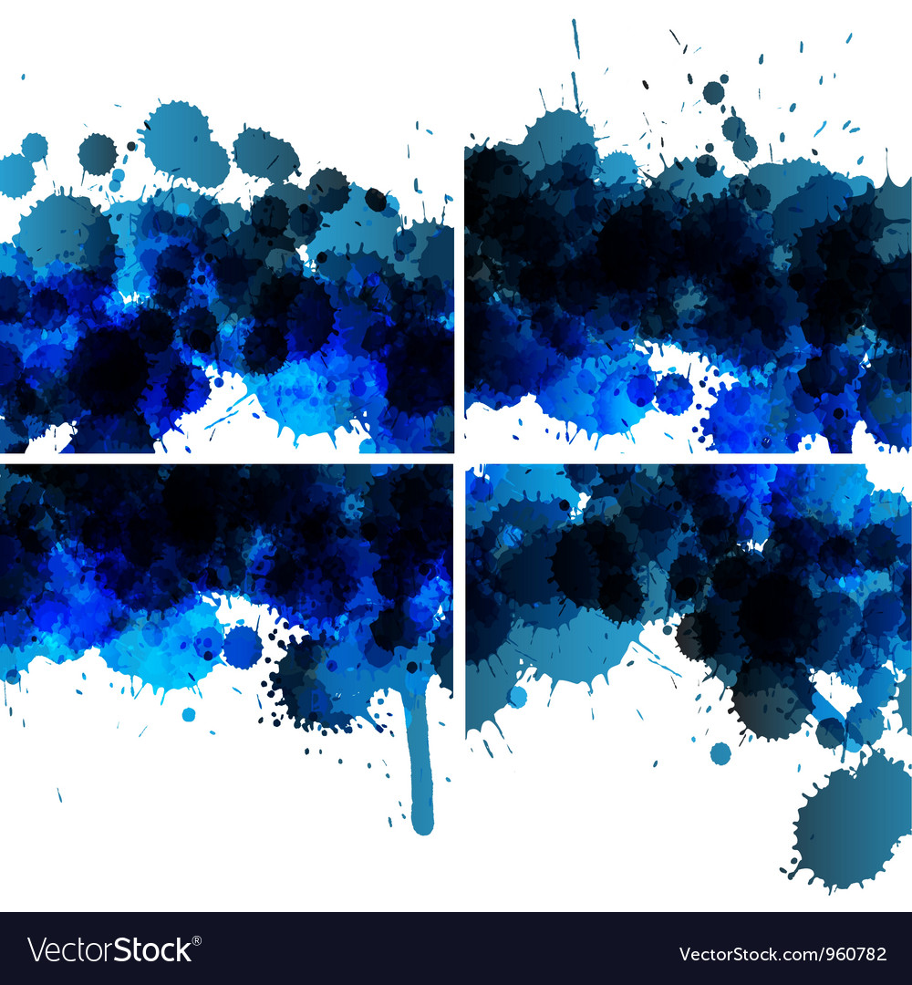 Set of ink blots backgrounds vector | Price: 1 Credit (USD $1)