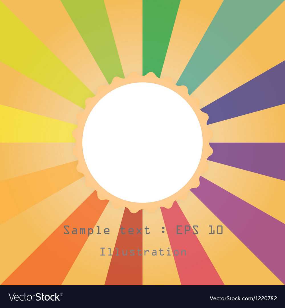 Sun and colourful ray vector | Price: 1 Credit (USD $1)