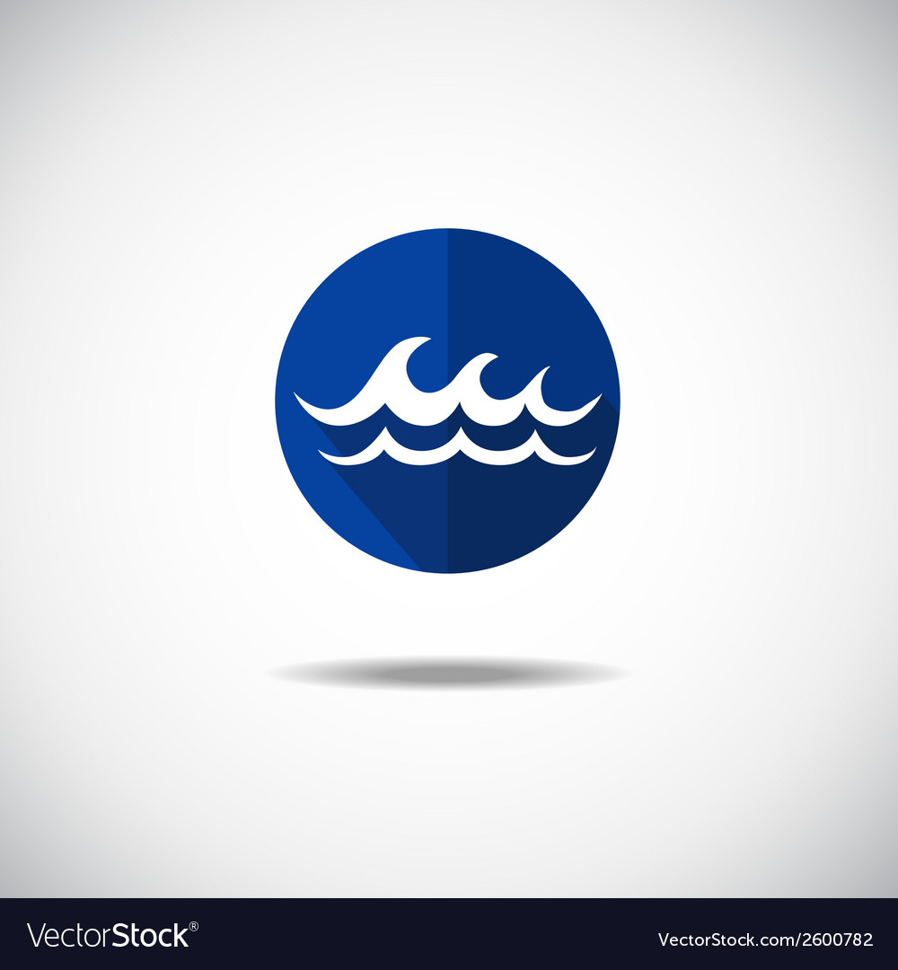 Wave icon vector | Price: 1 Credit (USD $1)