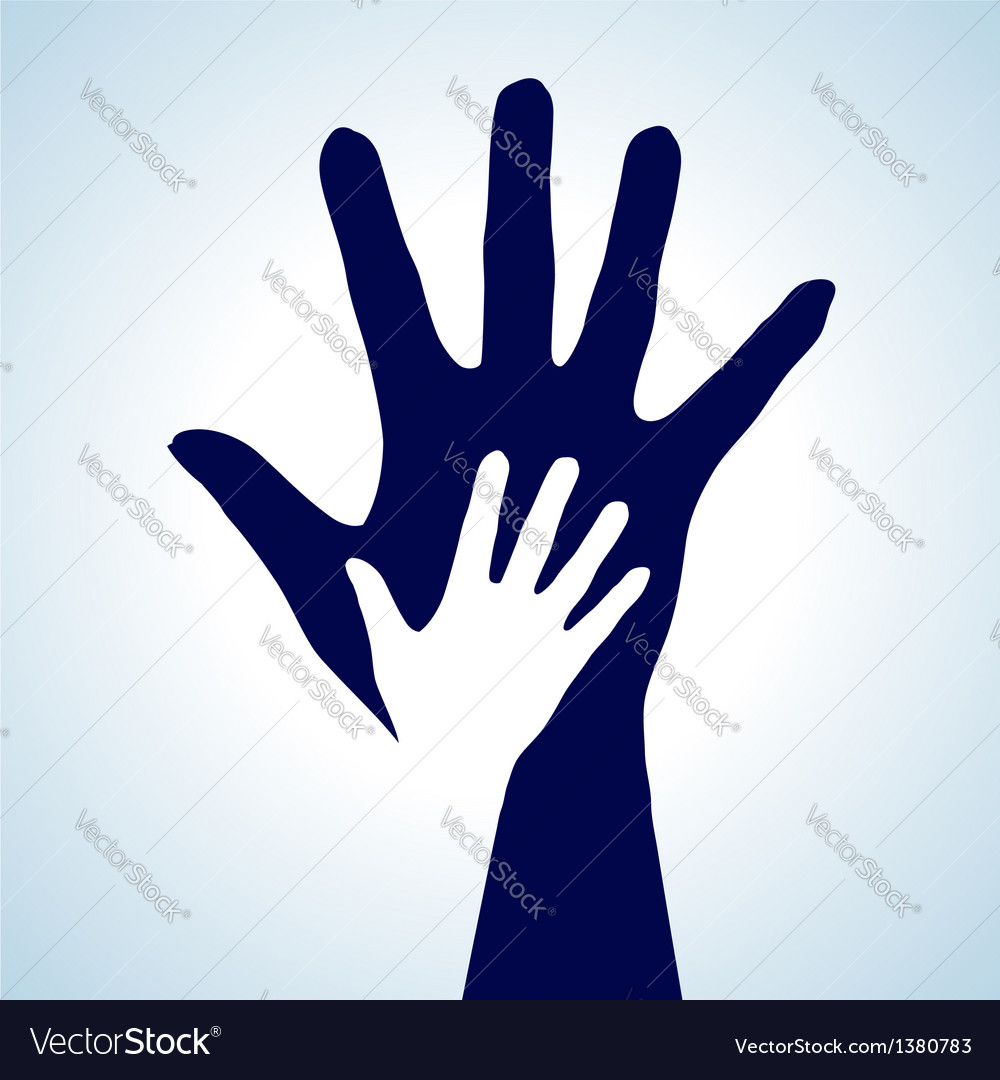 Helping hands vector | Price: 1 Credit (USD $1)
