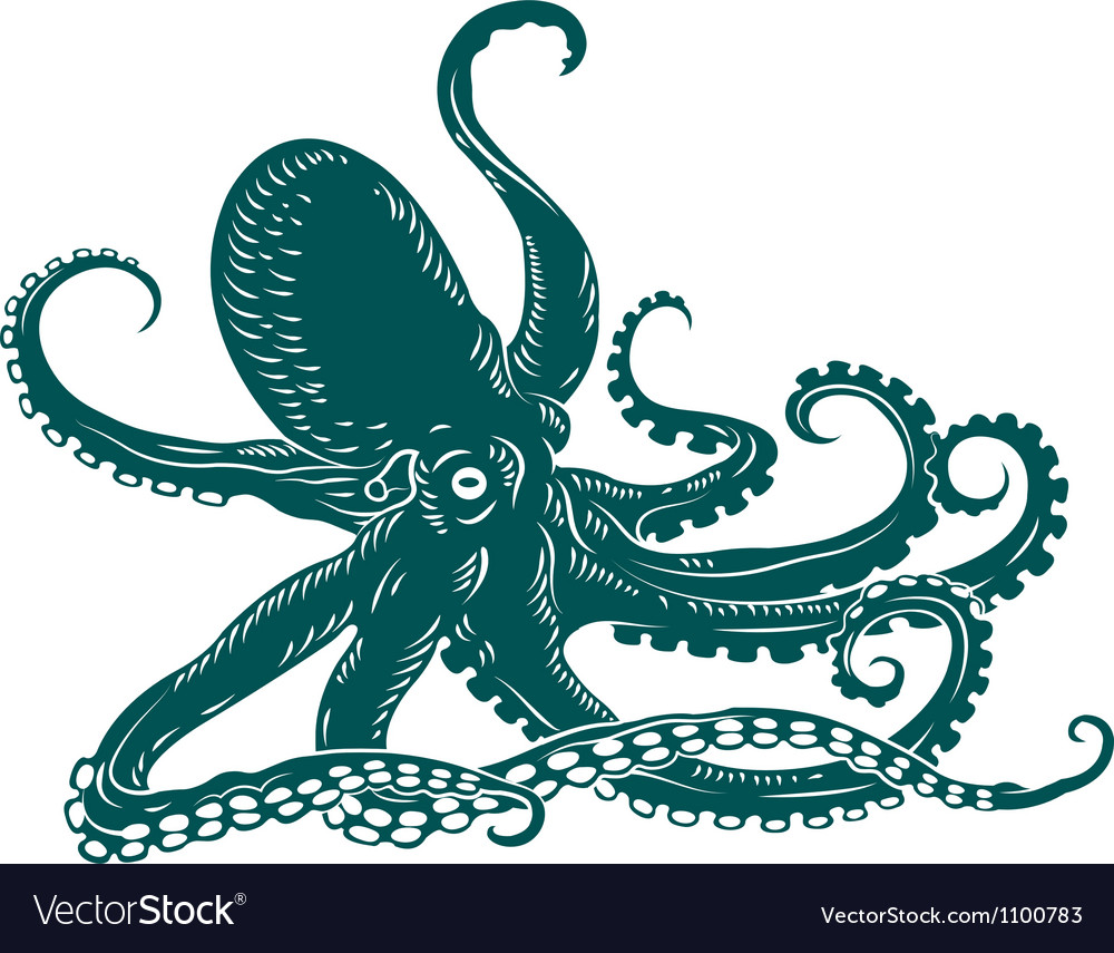Octopus with tentacles vector | Price: 1 Credit (USD $1)