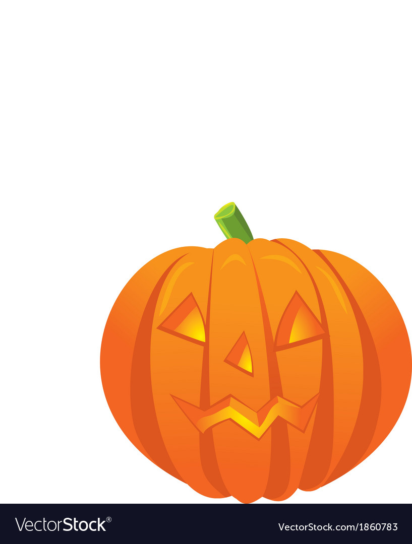 Pumpkin with an evil expression on his face vector | Price: 1 Credit (USD $1)
