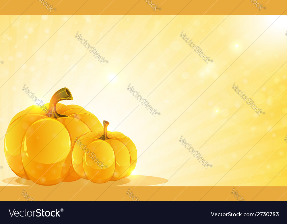 Pumpkins and shine vector | Price: 1 Credit (USD $1)