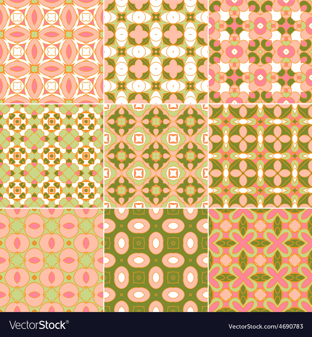 Retro seamless wallpapers vector | Price: 1 Credit (USD $1)