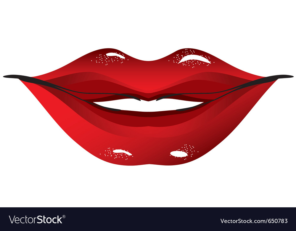 Sexual lips women vector | Price: 1 Credit (USD $1)
