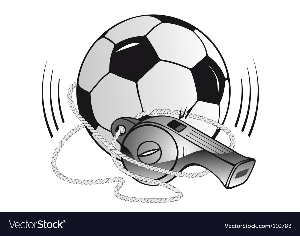 Soccer ball and whistle vector | Price: 1 Credit (USD $1)