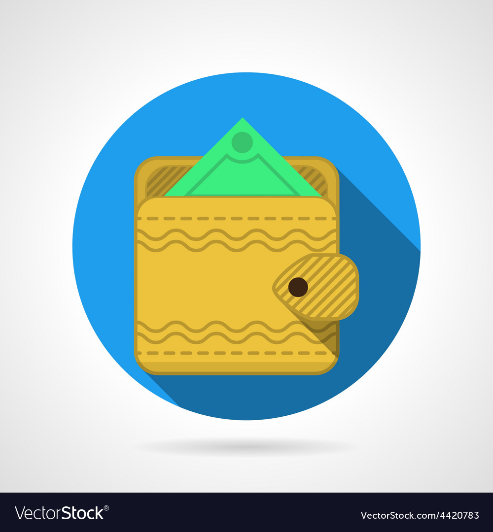Yellow wallet flat icon vector | Price: 1 Credit (USD $1)