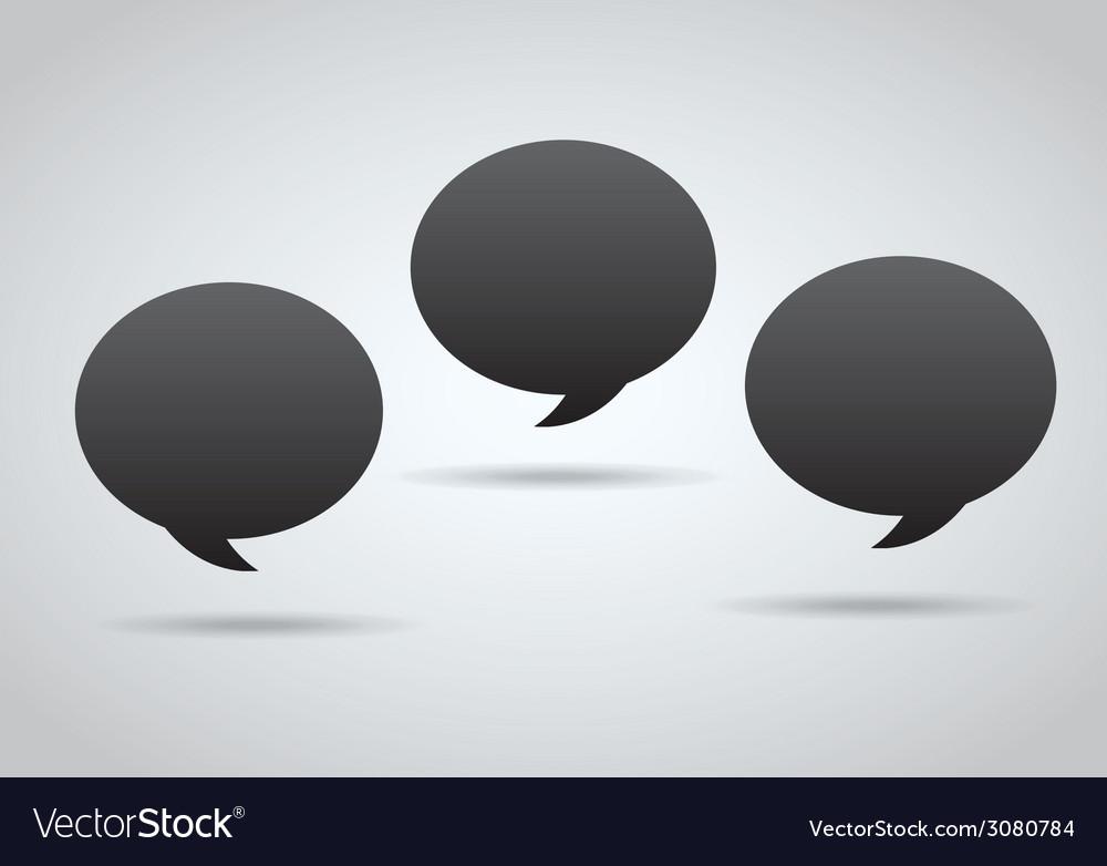 Bubble speech design vector | Price: 1 Credit (USD $1)