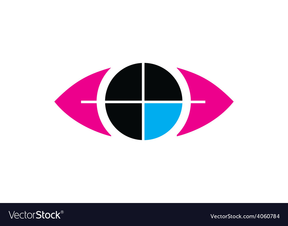 Eye target vision symbol logo vector | Price: 1 Credit (USD $1)