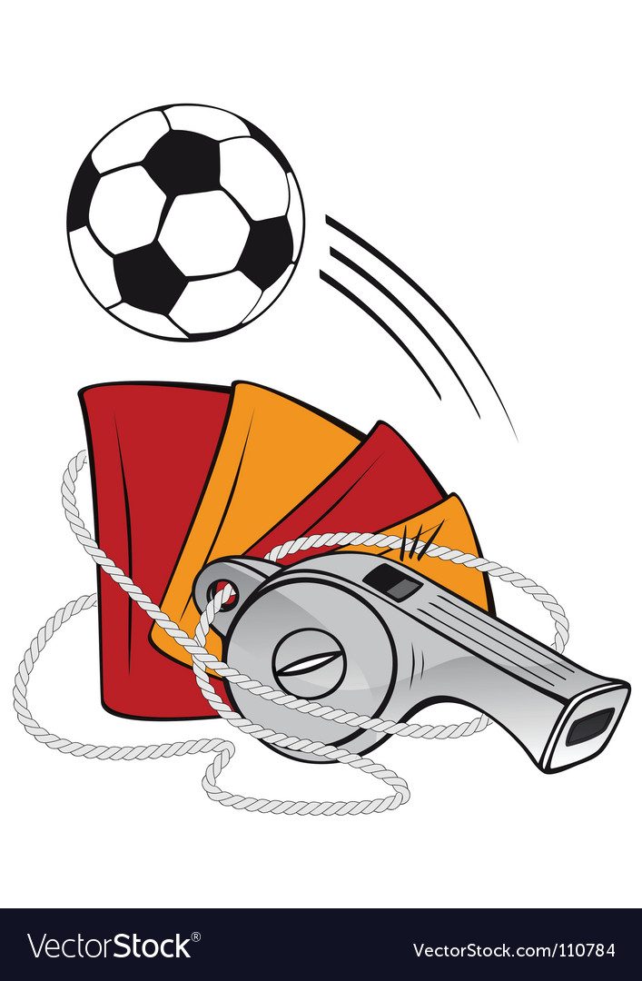 Football and whistle vector | Price: 1 Credit (USD $1)