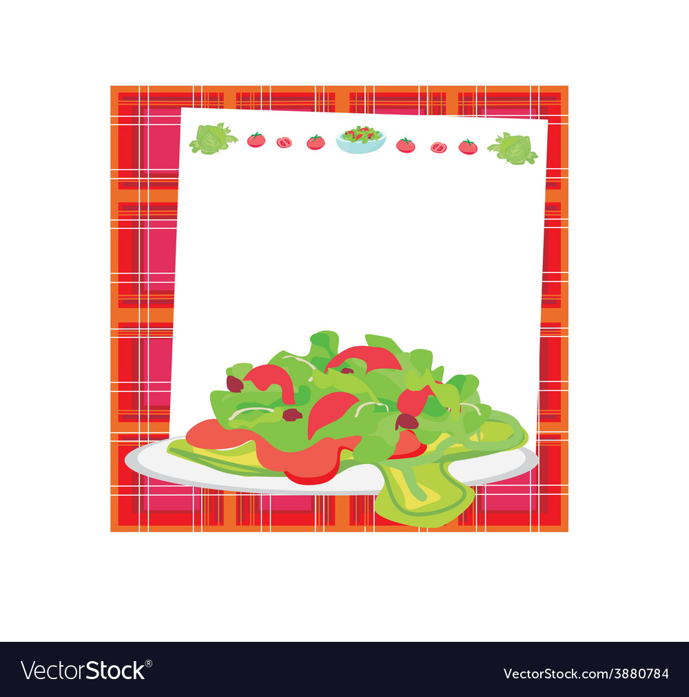 Fresh vegetable salad card vector | Price: 1 Credit (USD $1)