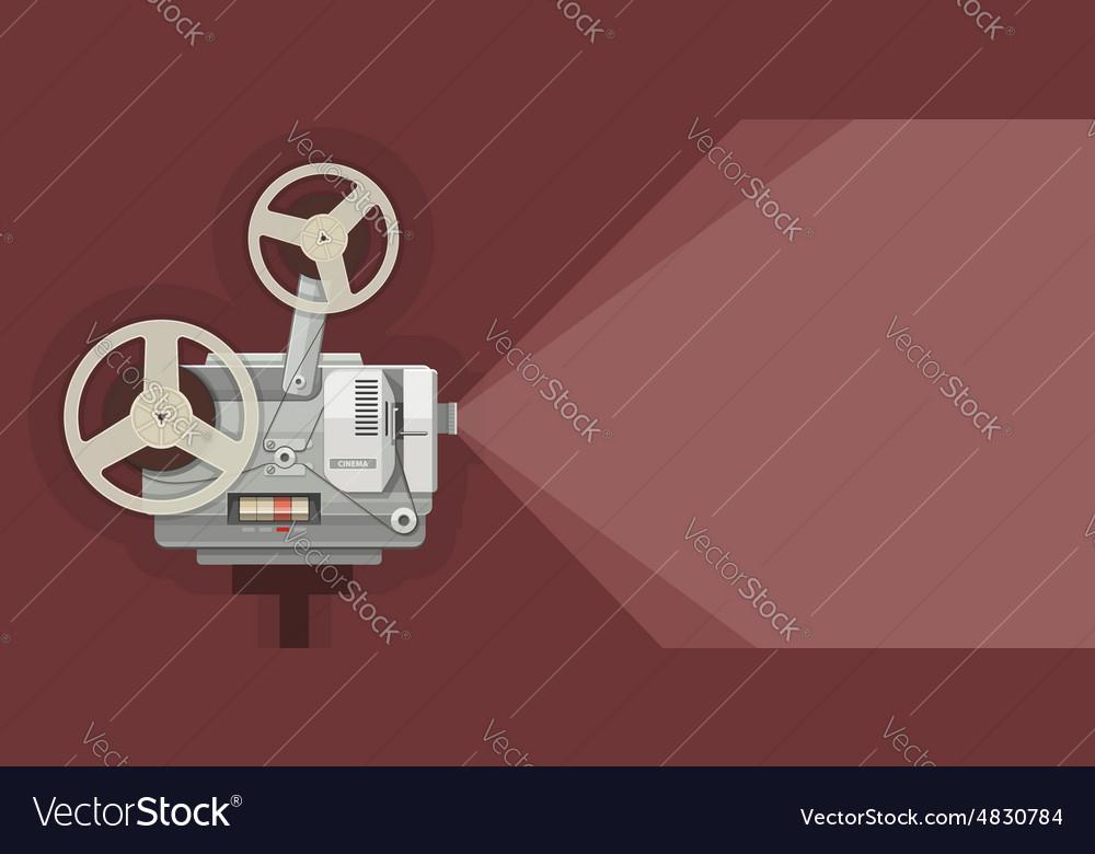 Retro movie projector for vector