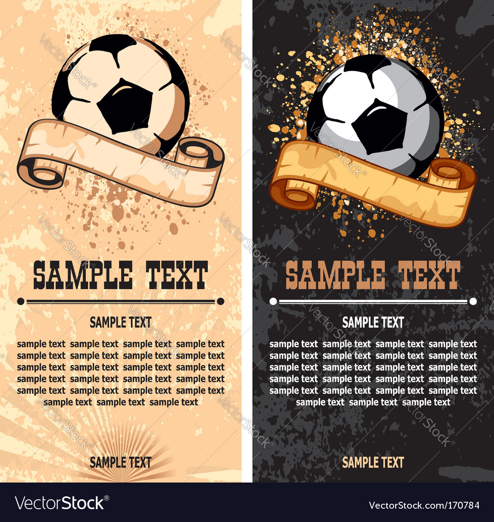 Soccer ball on grunge background vector   Price: 1 Credit (USD $1)