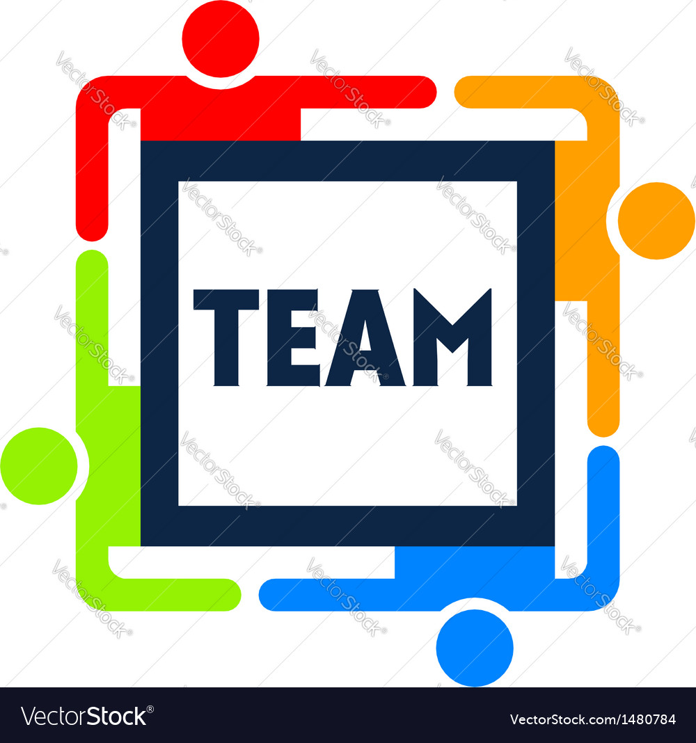 Team square logo vector | Price: 1 Credit (USD $1)
