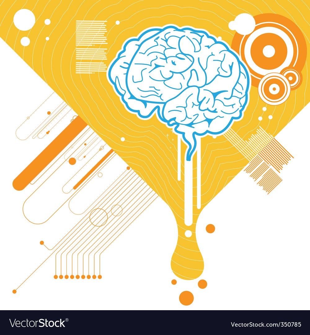 Abstract brain illustration vector | Price: 1 Credit (USD $1)