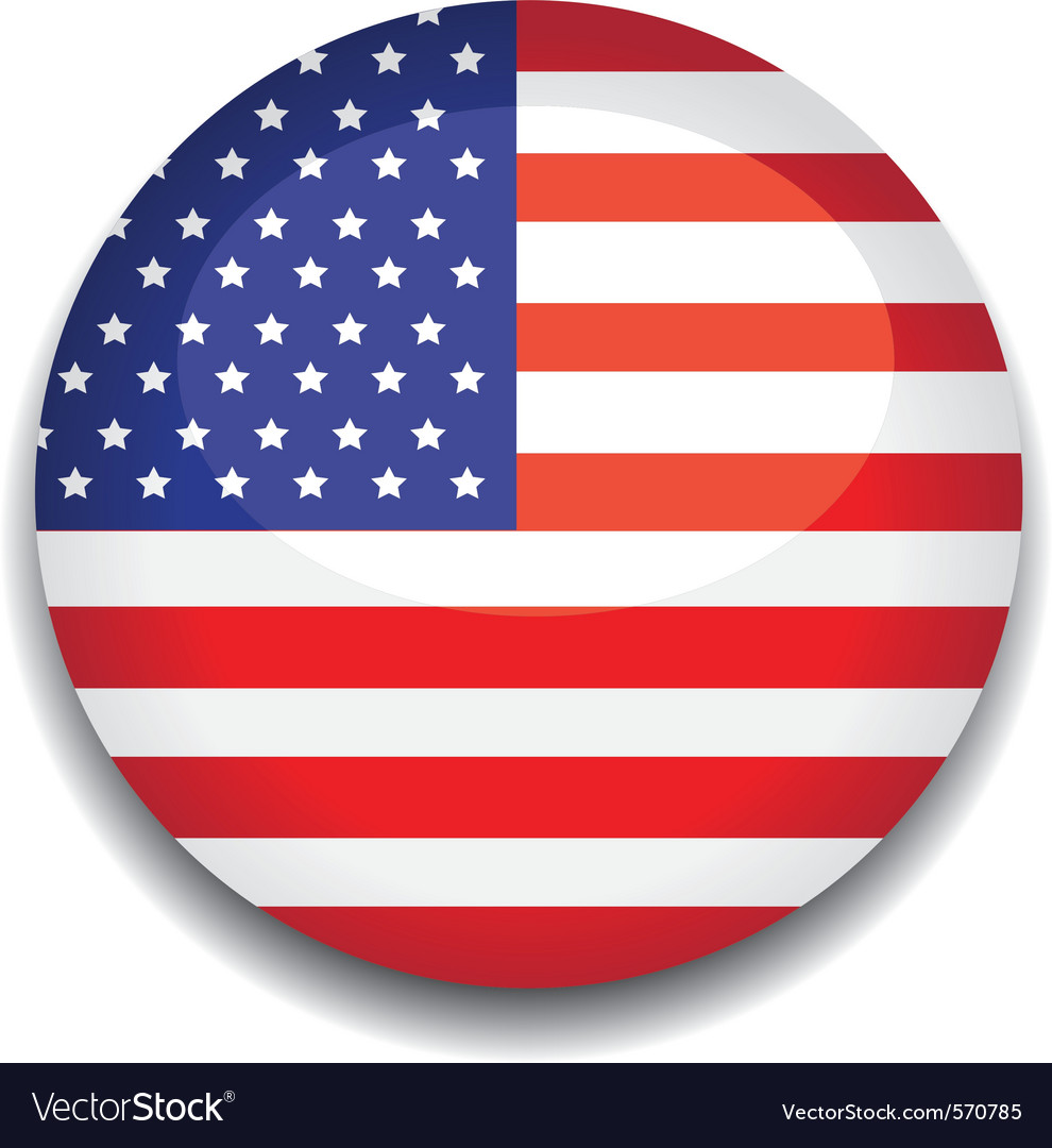 America flag vector | Price: 1 Credit (USD $1)