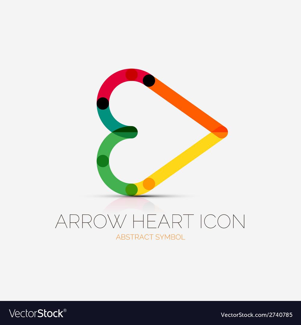 Arrow heart icon company logo business concept vector | Price: 1 Credit (USD $1)