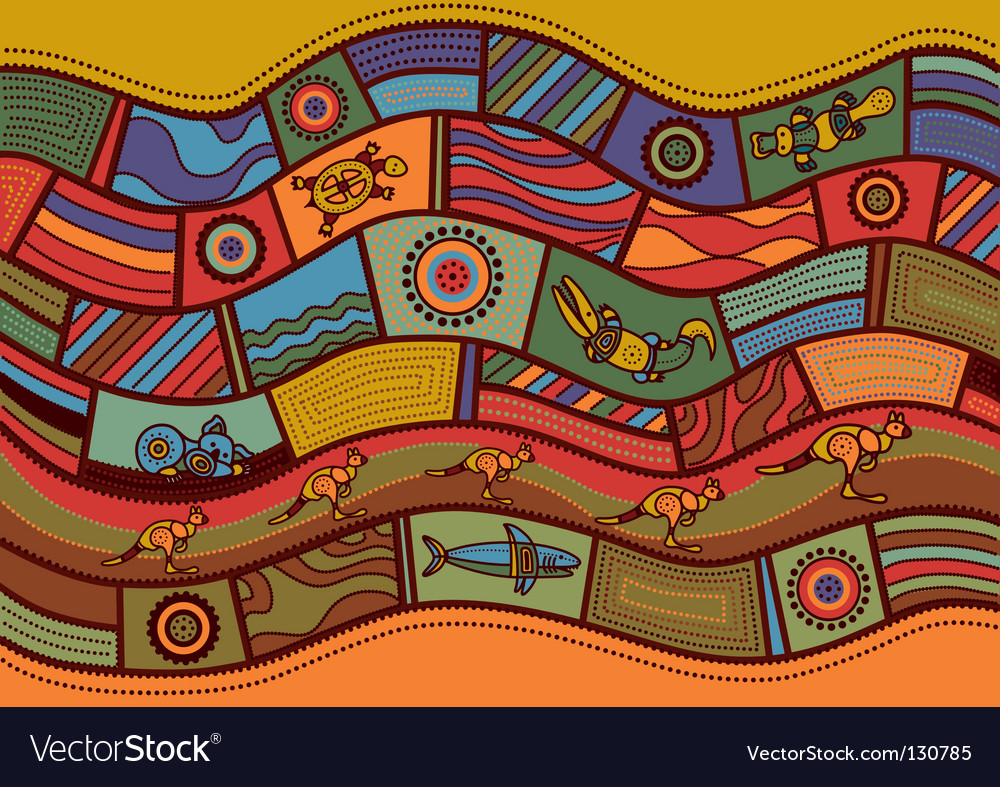 Australian pattern vector | Price: 1 Credit (USD $1)