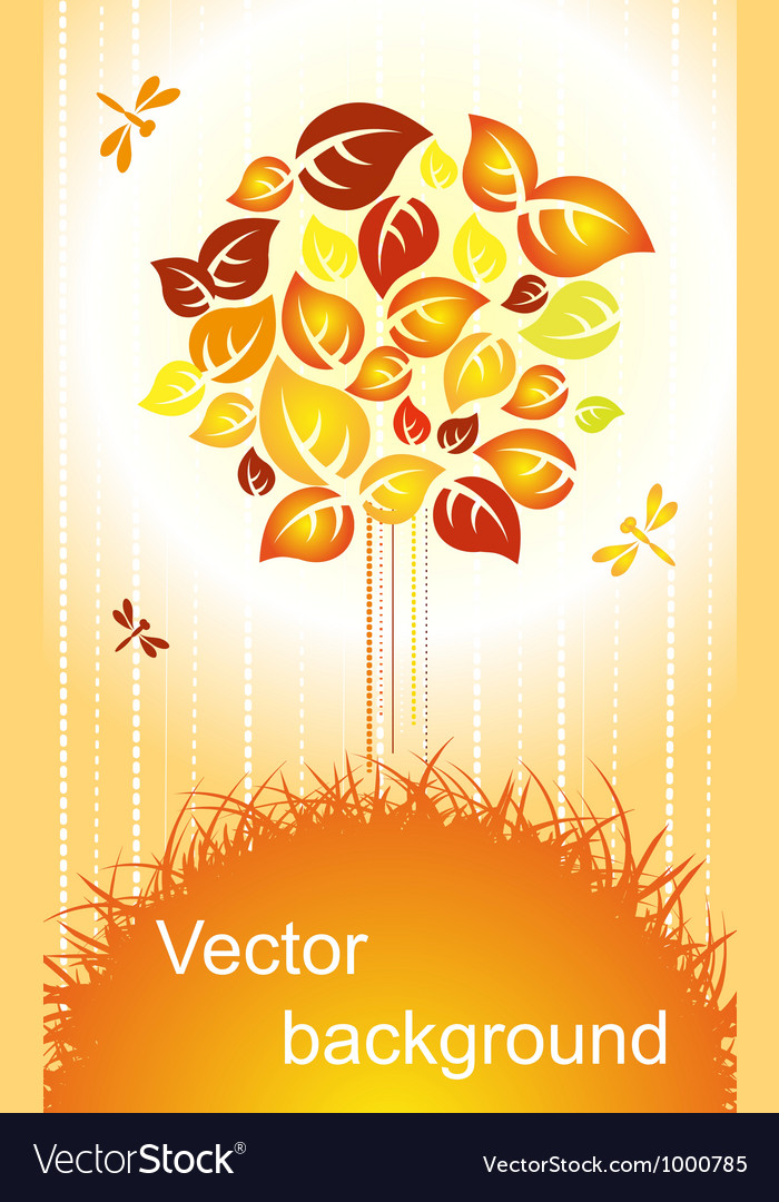 Autumn background - color tree vector | Price: 1 Credit (USD $1)