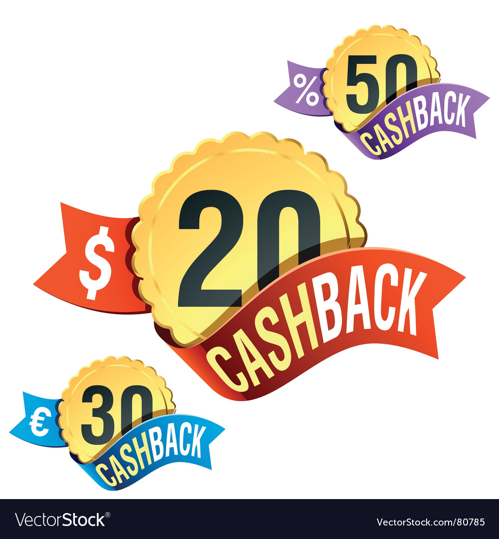 Cash back emblem vector | Price: 3 Credit (USD $3)