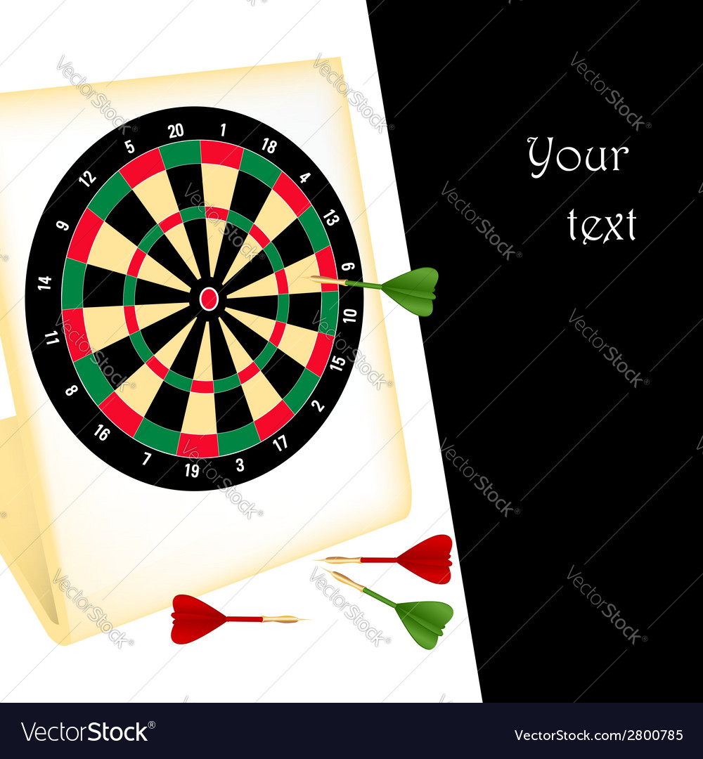 Dart board with darts vector | Price: 1 Credit (USD $1)