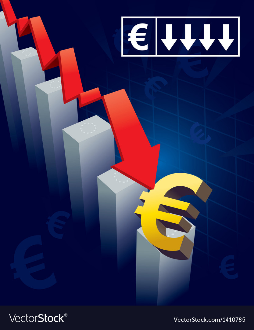 Euro currency crash vector | Price: 1 Credit (USD $1)